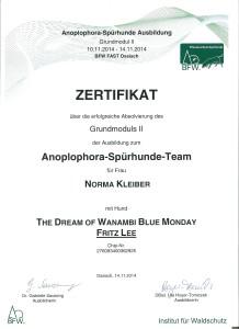 Fritz Lee Zertifikat GM2